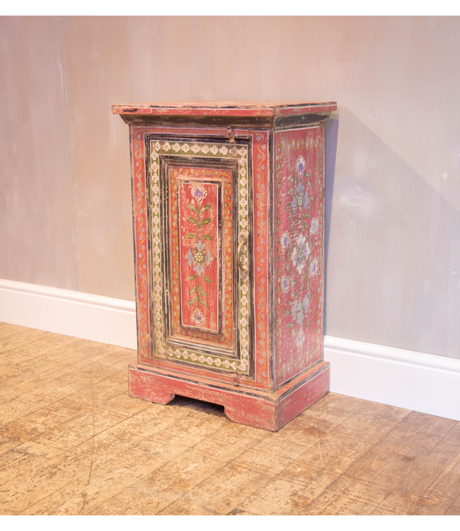 Pretty Painted Red Cabinet