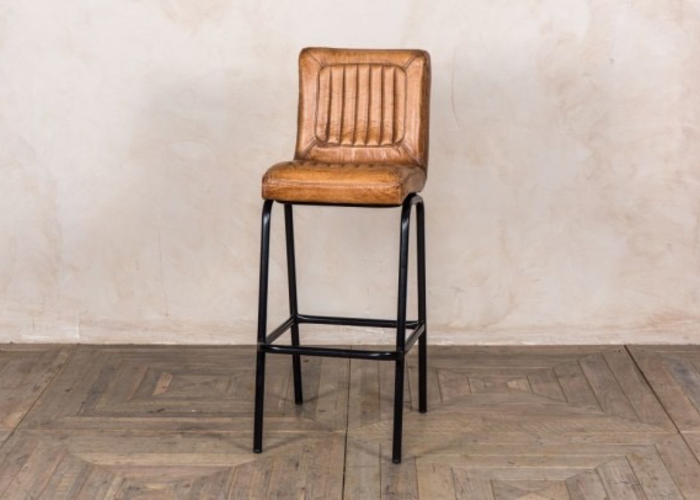 Outstanding Jenson Distressed Leather Bar Stools Tan Machost Co Dining Chair Design Ideas Machostcouk