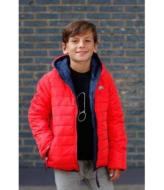 moodstreet short hooded coat - red