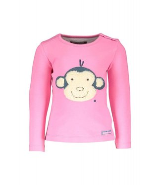 moodstreet T-shirt LS patch monkey