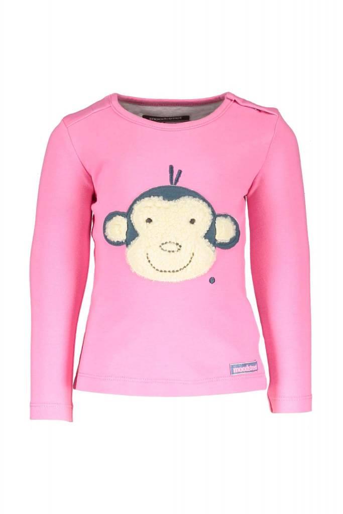 Moodstreet Kinderkleding.Moodstreet T Shirt Ls Patch Monkey