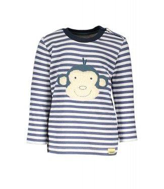 moodstreet t-shirt stripe patch monkey
