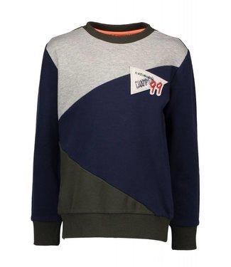 Bampidano Kids boys crewneck sweater colour block