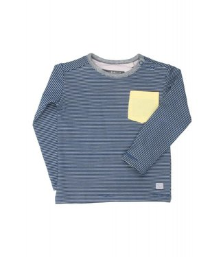 moodstreet T-shirt contrast pocket - petrol blue