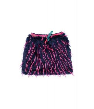 Kidz-art Meisjes rokje multi color fake fur