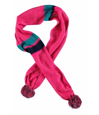 Kidz-art Girls knitted scarf pompom