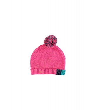 Kidz-art Girls knitted hat pompom