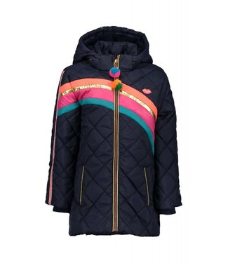 Kidz-art girls jacket long dark blue