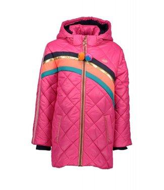 Kidz-art Girls jacket long neon fuchsia