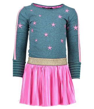 B.Nosy girls dress with plisse velvet skirt part