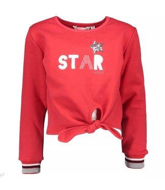 Bampidano kids girls knot sweater star