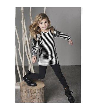 Bampidano kids girls dress rib with volants y/d stripe