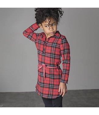 Bampidano kids girls woven dress check