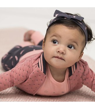 Bampidano baby girls double fabric cardigan