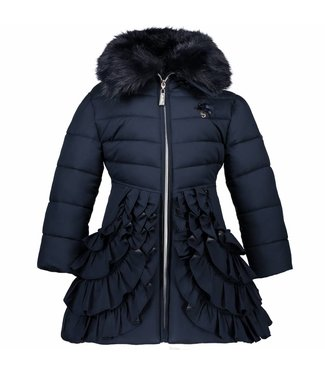 LeChic Girls coat ruffled bottom