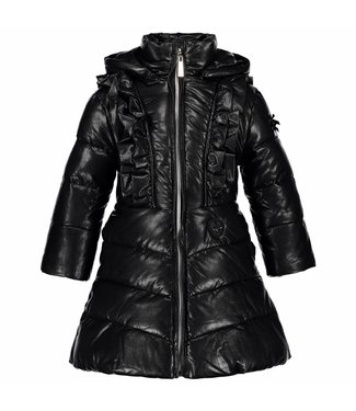 LeChic Girls long coat big ruffle
