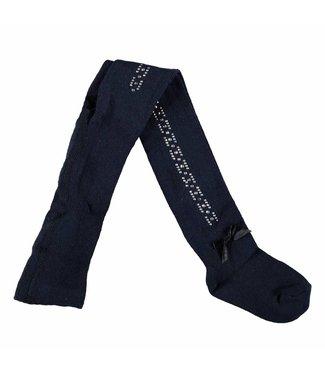 LeChic maillot rhinestones satin bow blue