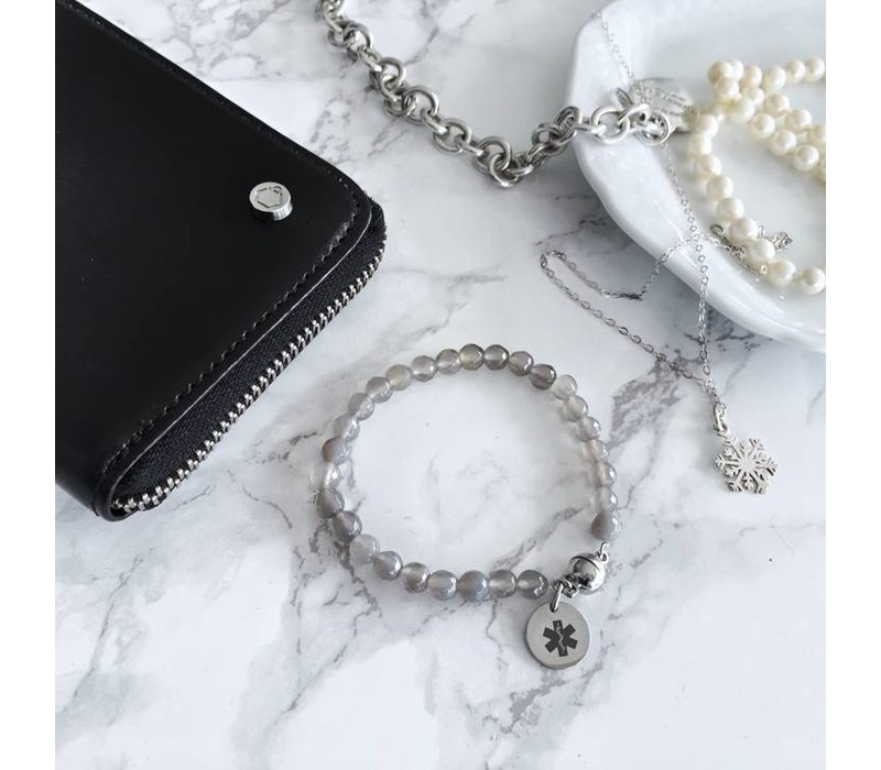 Diabetes gemstone bracelet