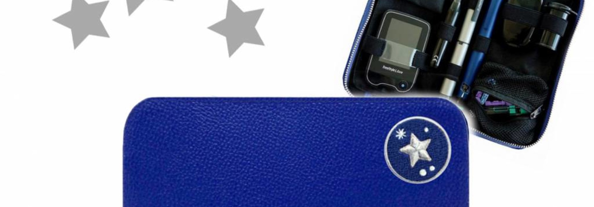KIDS Case  - Blau STAR (inkl. Patch & Gurt)