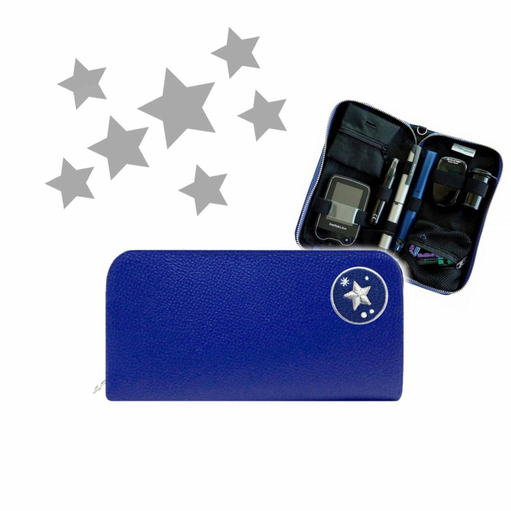 KIDS Case  - Blau STAR (inkl. Patch & Gurt)-1