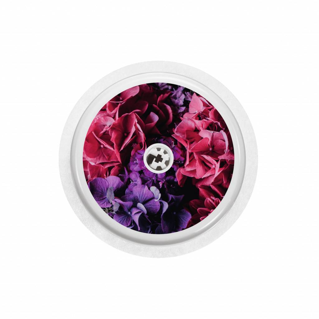 HYDRANGEA BLOSSOMS Sensor Sticker - FreeStyle Libre-1