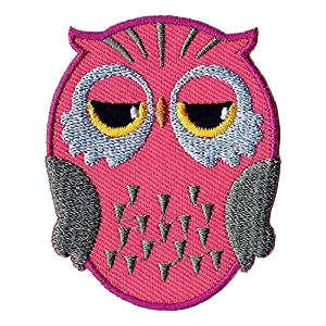Pochette KIDS - Hibou rose (Patch inclus)-7
