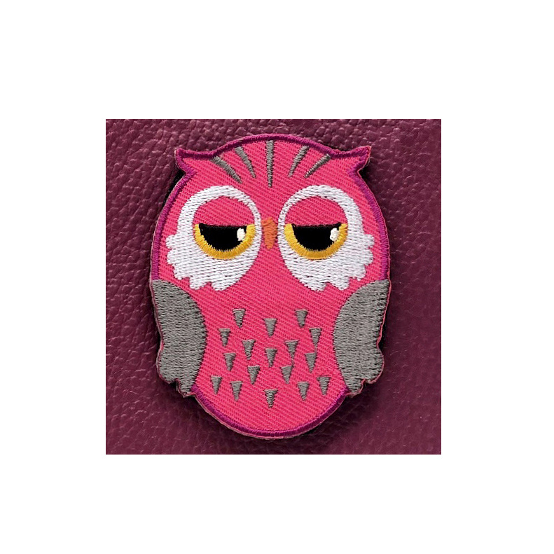 Pochette KIDS - Hibou rose (Patch inclus)-3