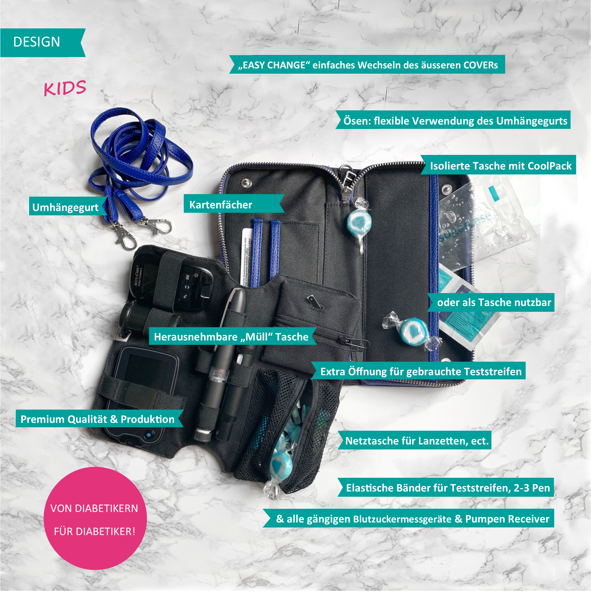 KIDS Case  - Icebear (Patch & Belt incl.)-3