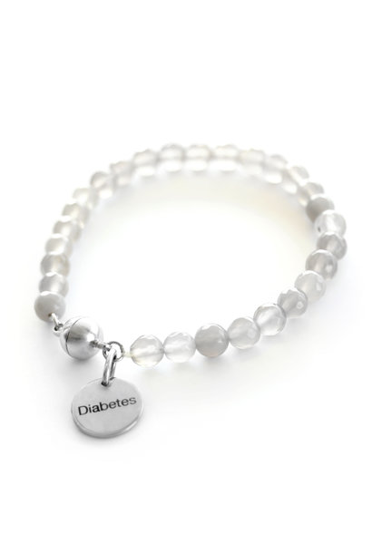 Diabetes gemstone bracelet
