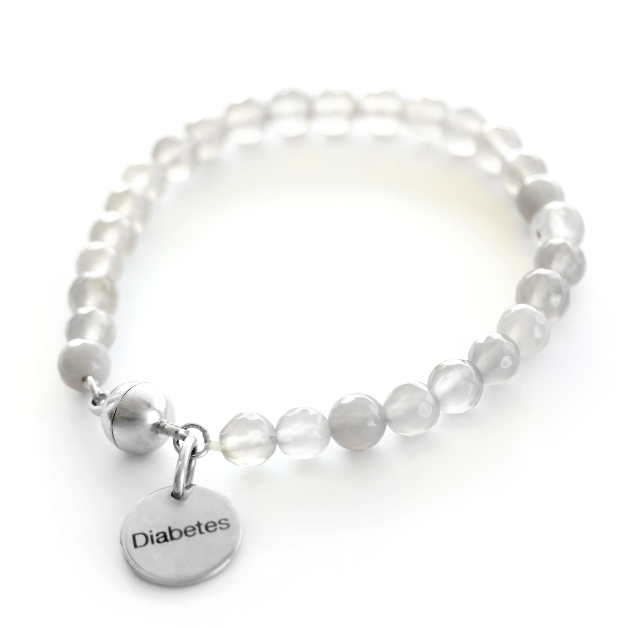 Diabetes gemstone bracelet - Stone-1