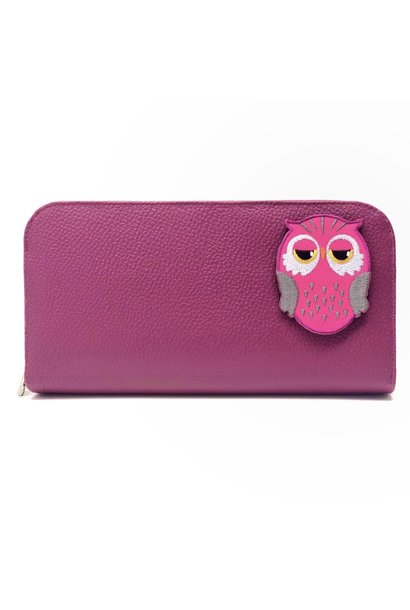 Pochette KIDS - Hibou rose (Patch inclus)