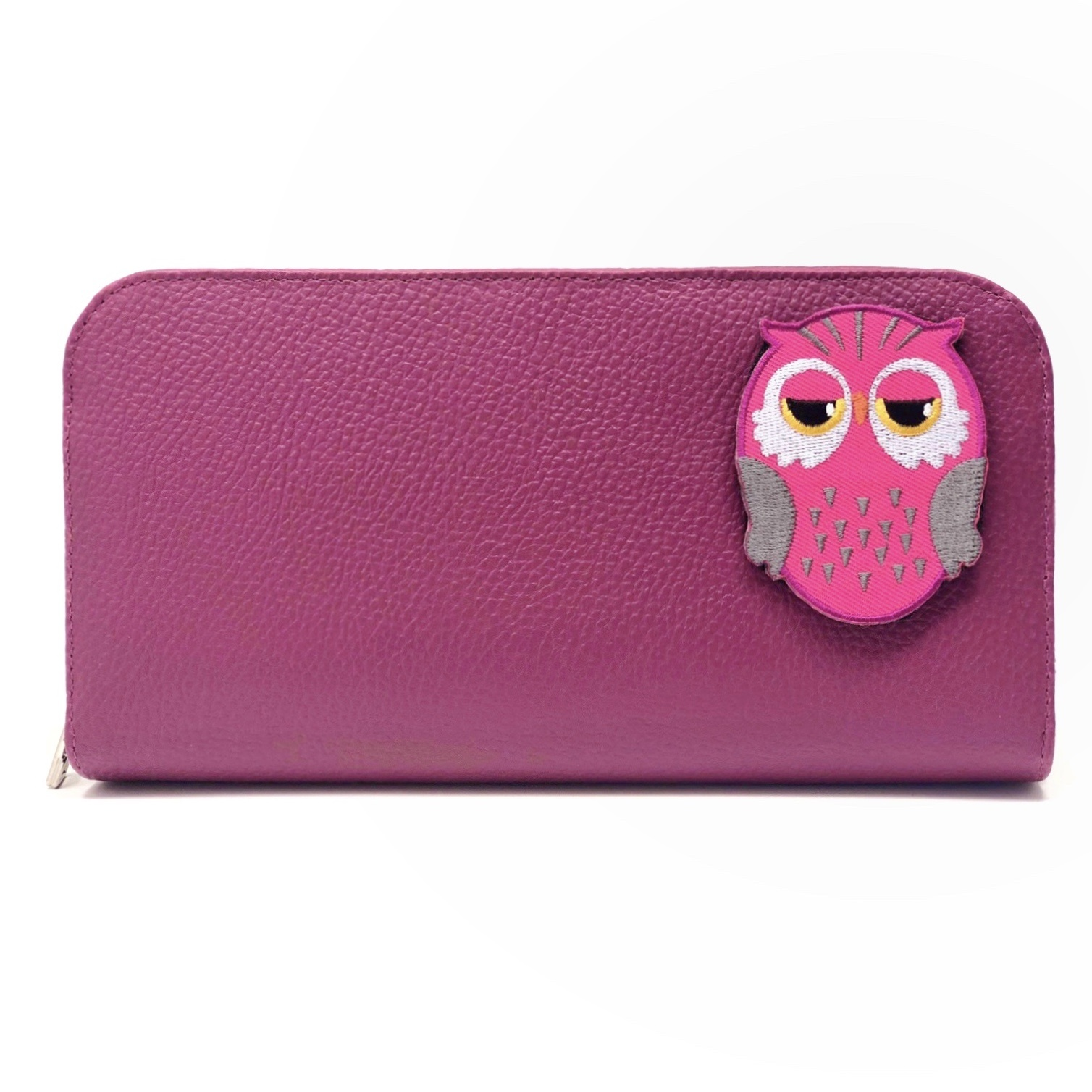 Pochette KIDS - Hibou rose (Patch inclus)-1