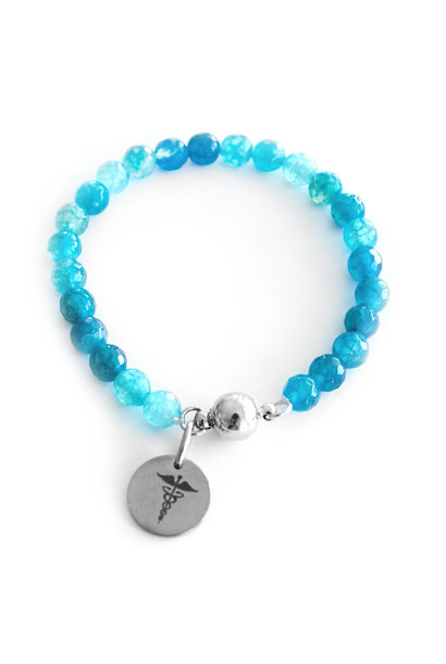 Diabetes gemstone bracelet - Sea