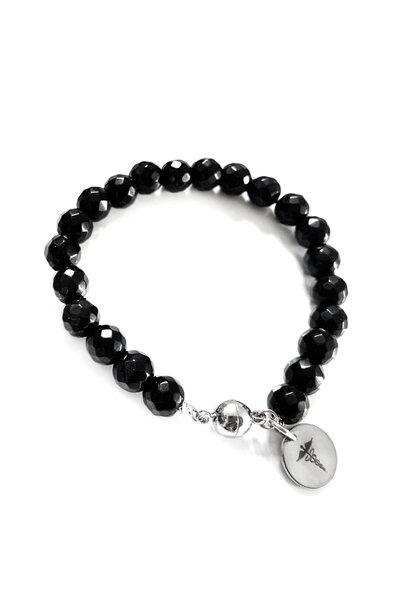 Bracelet en pierres précieuses pour diabétiques - Nero