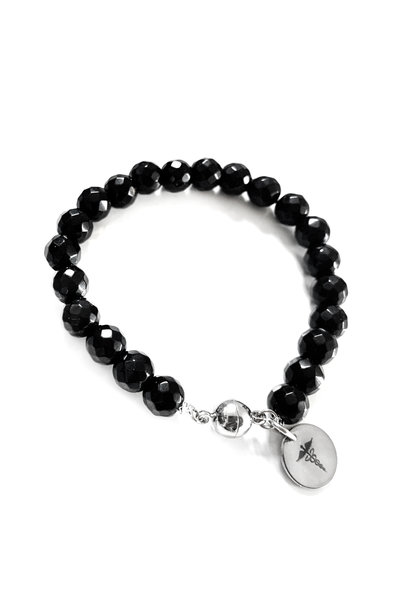 Diabetes gemstone bracelet - Nero