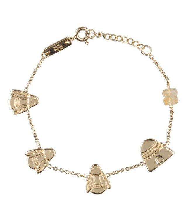Lennebelle Petites Armband Queen Bee Verguld