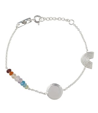 Lennebelle Petites Armband She's a rainbow Kind Zilver