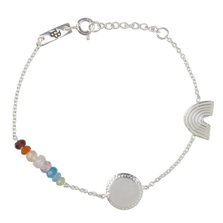 Armband She's a rainbow Kind Zilver