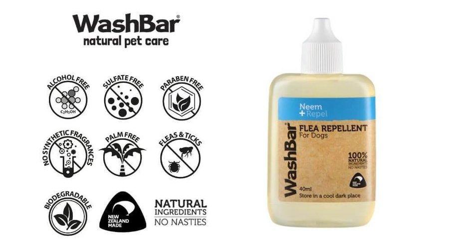 WashBar Flea Repellent, 100% natuurlijk.