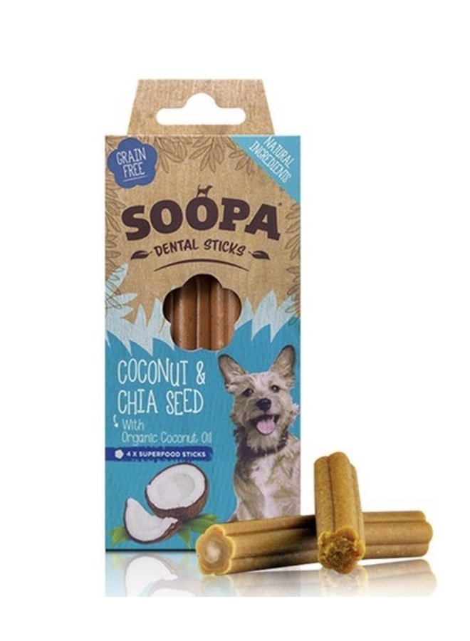 Dental Sticks - Kokosnoot & Chiazaad