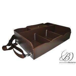 Bauchladen Biscotto mit Kassenfach und 5 Fächern: Größe L