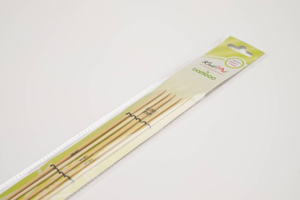 KnitPro Knitpro Bamboo Kousennaalden - 15cm