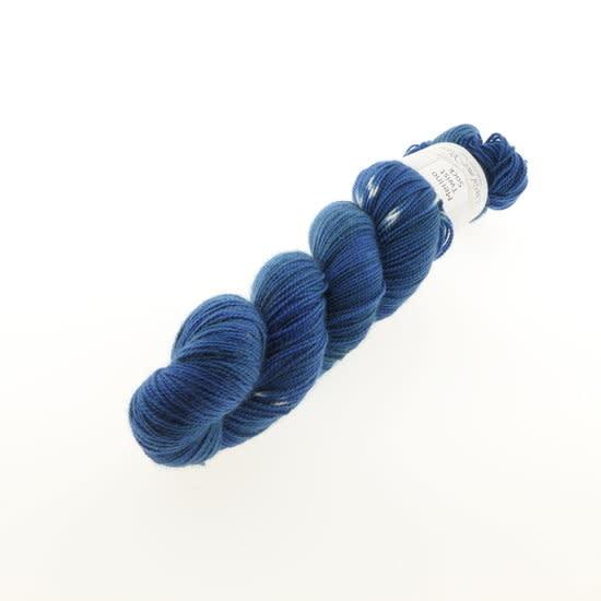 Wol met Verve Wol met Verve Merino Twist Sock - Tie Dye Blue Depth