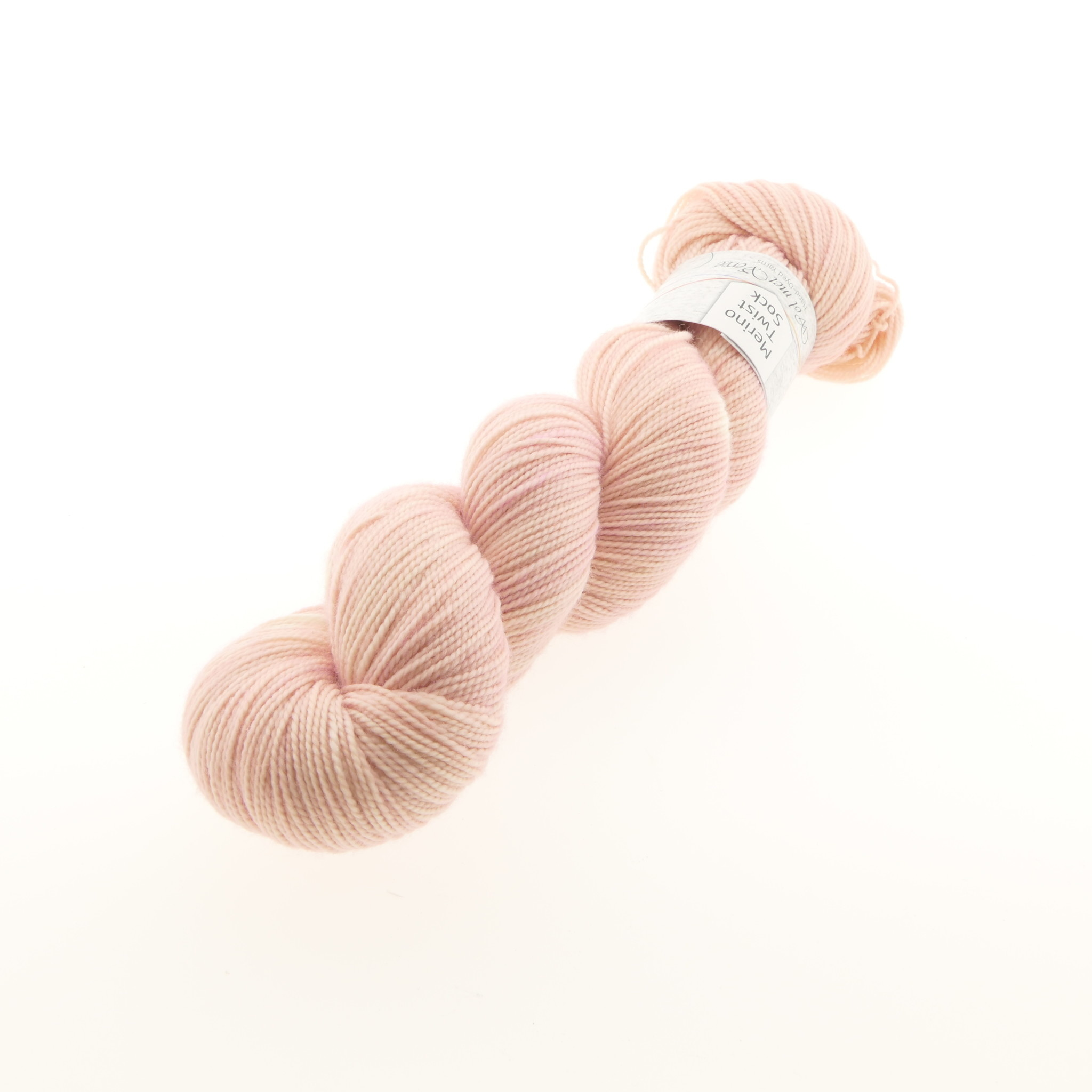 Wol met Verve Wol met Verve Merino Twist Sock - Tie Dye Seashell Pink