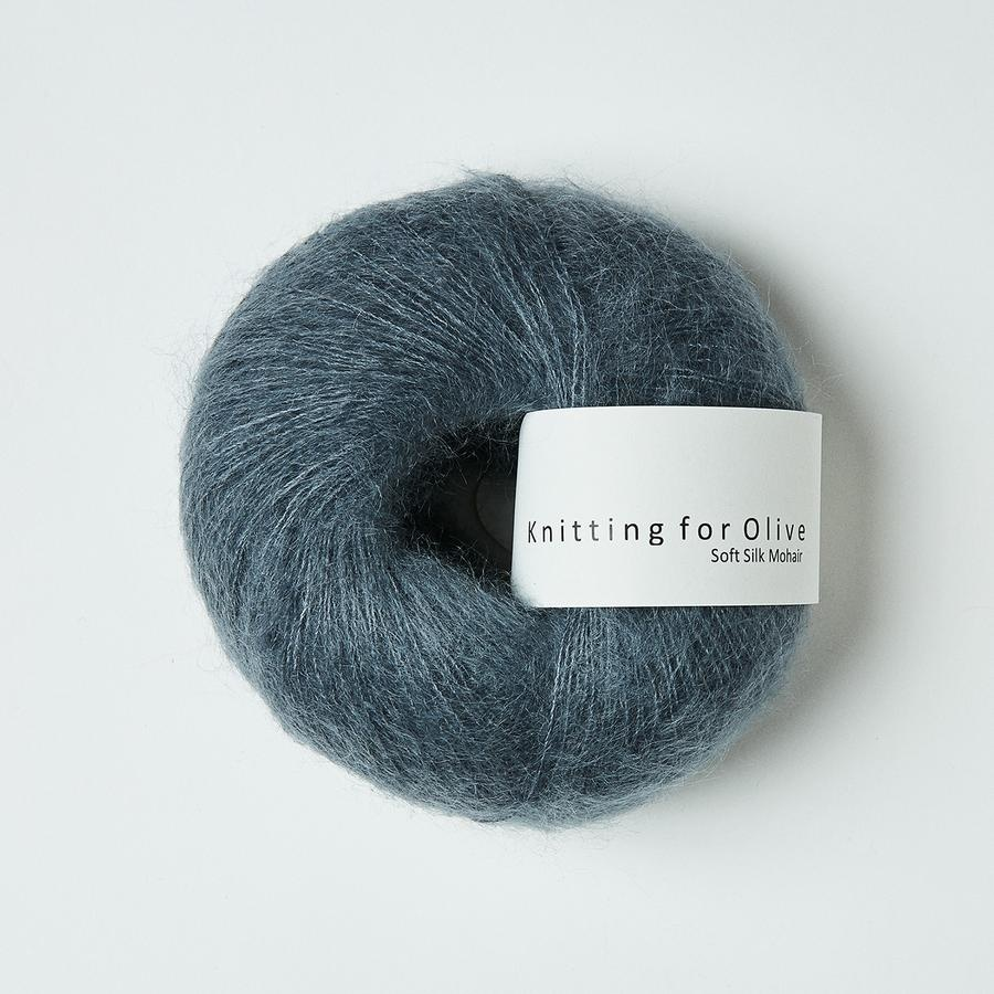 knitting for olive Knitting for Olive Silk Mohair - Dusty Petroleum Blue