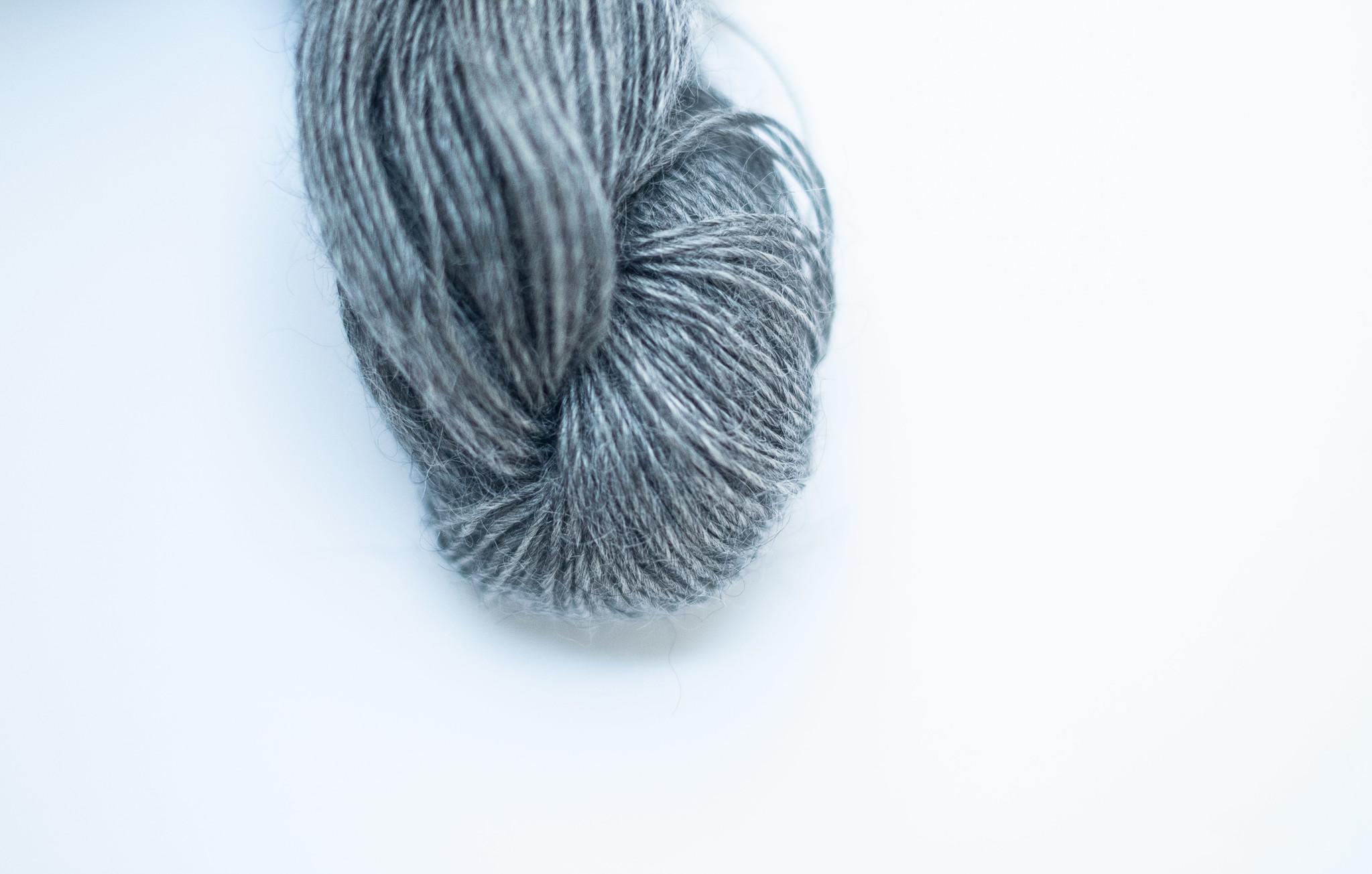 Mohair By Canard Mohair By Canard 1-Ply - gemeleerd grijs 1201