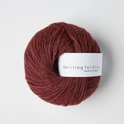 knitting for olive Knitting for Olive Double Soft Merino - Claret