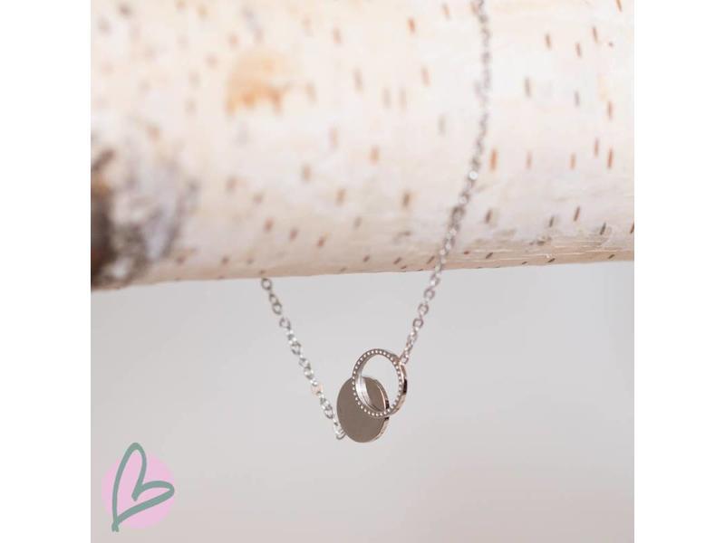 ZAG  Bijoux armband zilver met twee cirkels