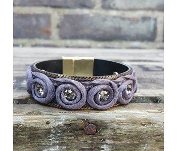 Biba grijsblauwe armband
