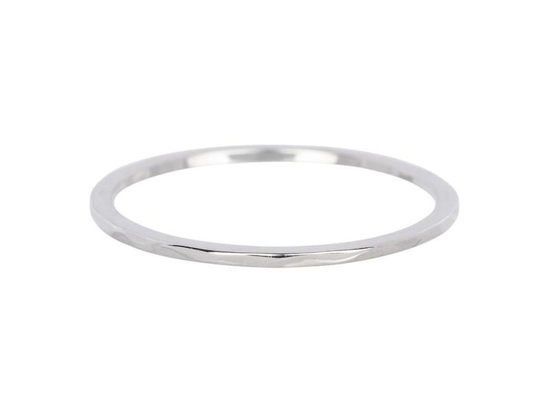 IXXXI aanschuif ring zilver wave 1mm